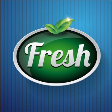 Fresh label button vector