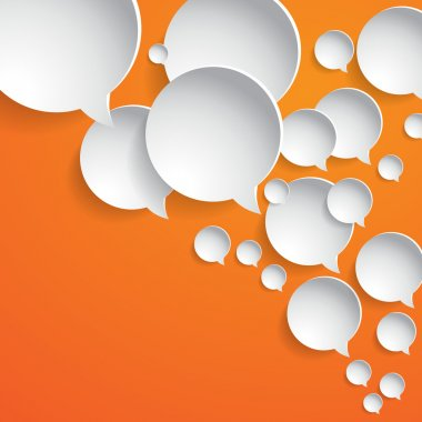 Abstract white paper circles - speech bubbles