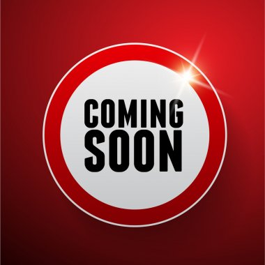 Coming soon button red