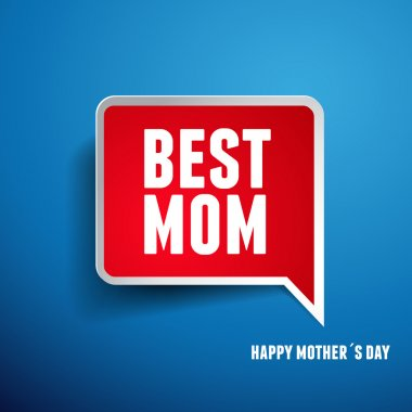 Happy Mothers's Day label