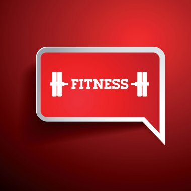 Fitness and Healthy Exercise Word