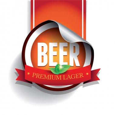 Beer label or sticker - lager