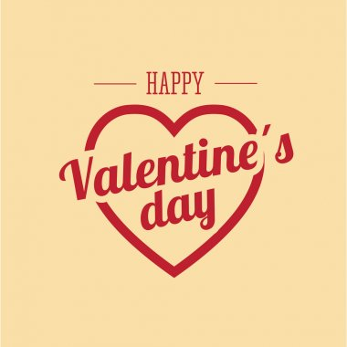 Happy valentines day card clip art vector