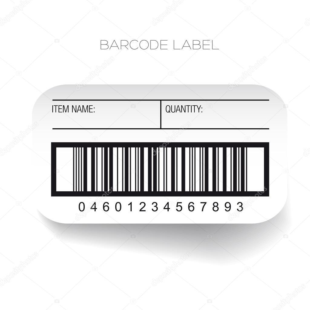 vector de plantilla de etiqueta de código de barras — Vector de ...