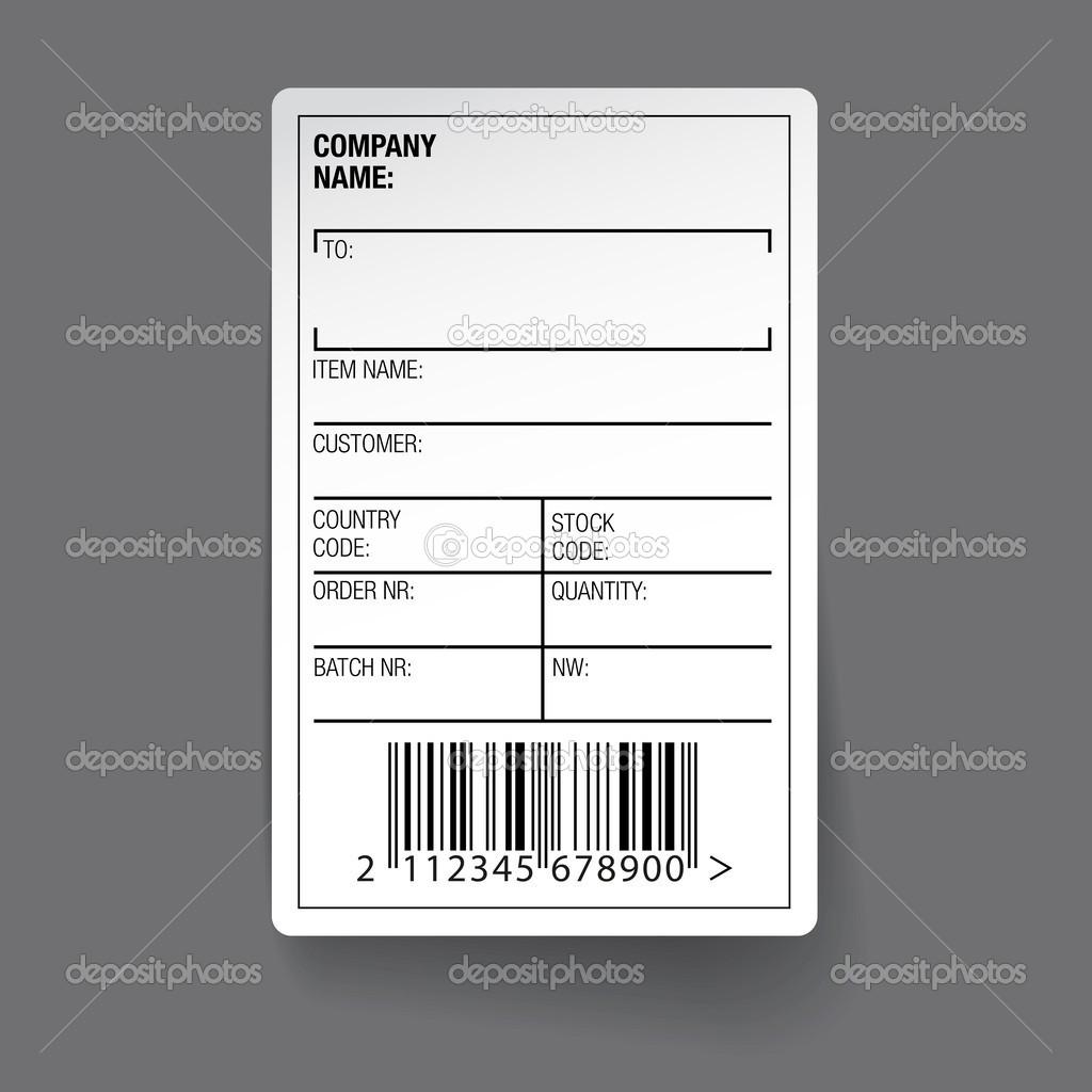 Barcode-Etikett-Vektor — Stockvektor © Grounder #42882049