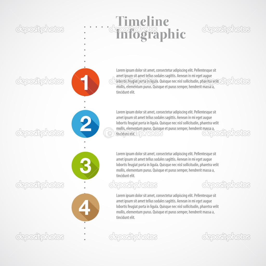 plantilla de informe Vector infografía timeline — Vector de stock ...