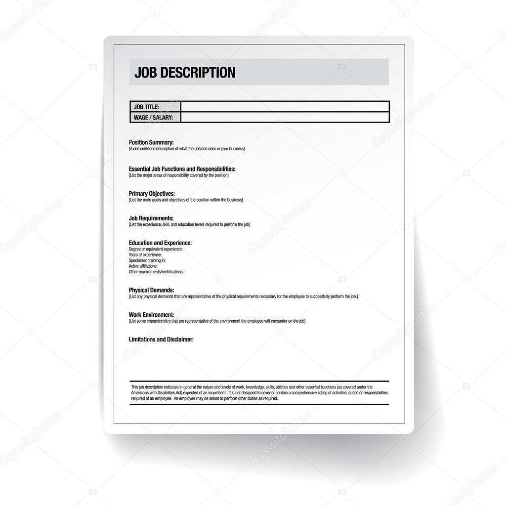 vector de trabajo Descripción plantilla — Archivo Imágenes ...