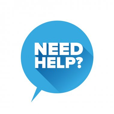 Need help? Flat design vector