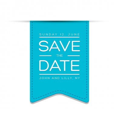 Save the date template vector stock vector