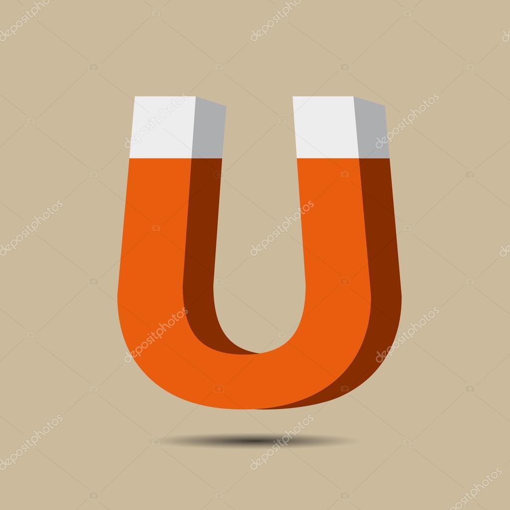 ícone de símbolo do ímã. símbolo de eletromagnetismo — Vetores de ...