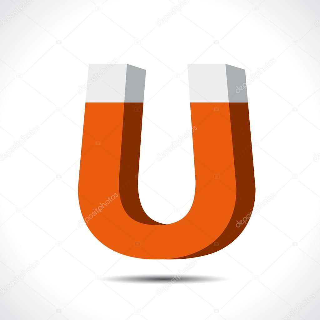Magnet Symbol icon. Electromagnetism symbol — Stock Vector ...