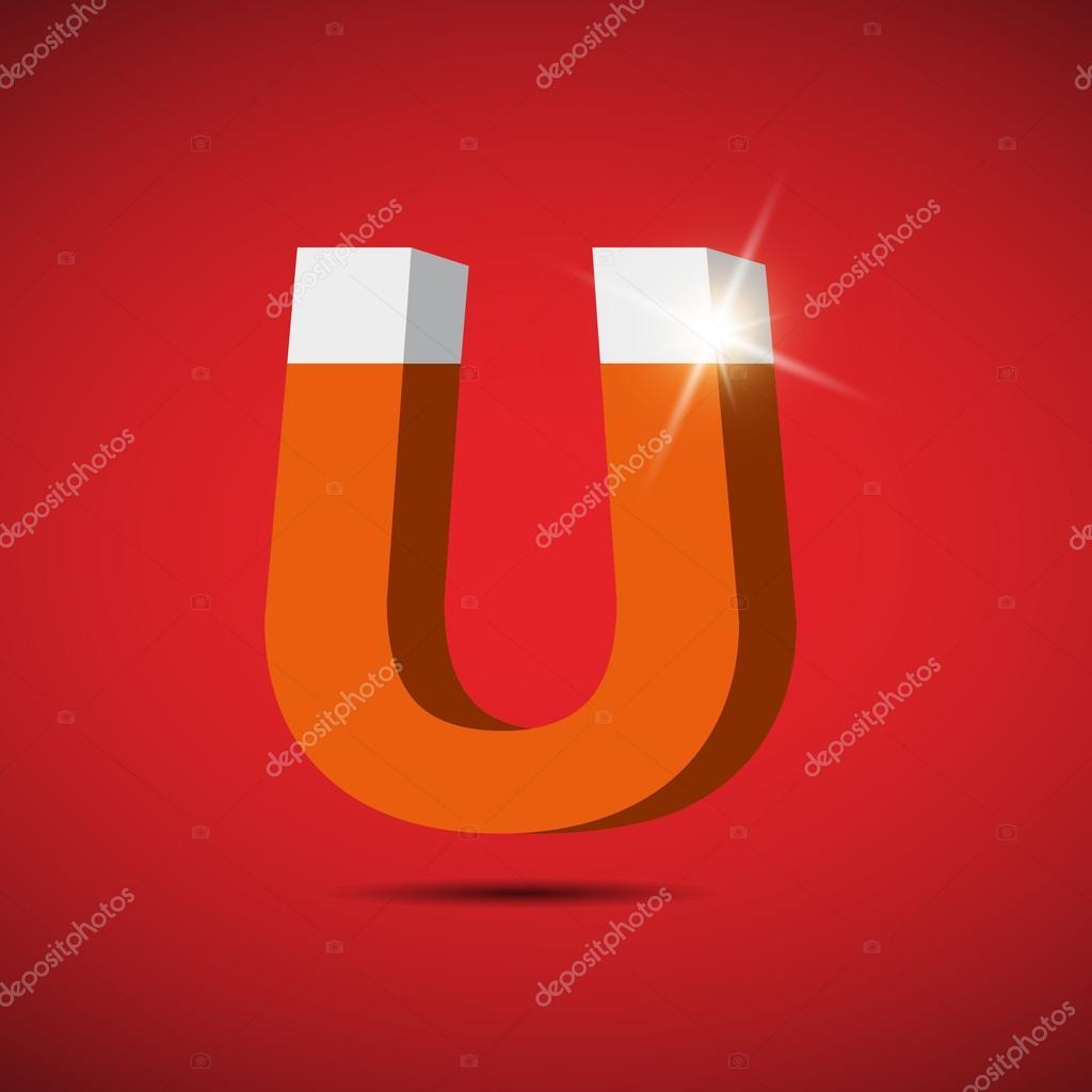 icono de símbolo del imán. símbolo de electromagnetismo — Vector de ...