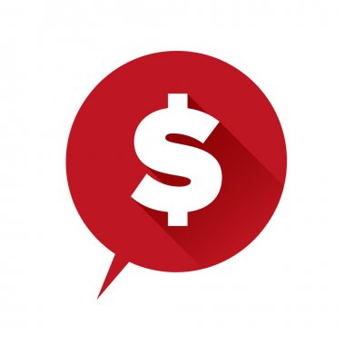 Money icon - dollar sign red