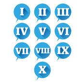 Fotografie Legen Sie die Zahlen. Vektor flache Bauform römische Ziffer