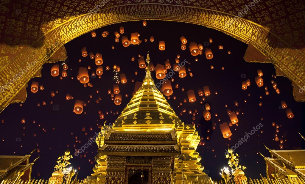 Doi suthep, golden pagoda and yeepeng