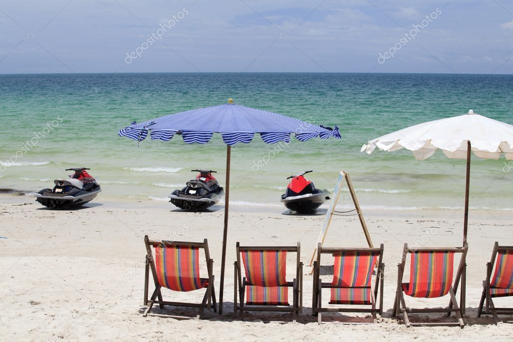 Jet Ski and deck chair