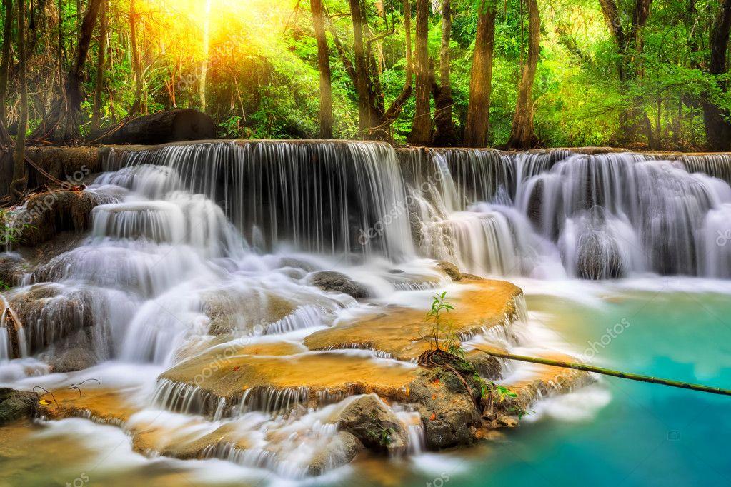 Фотообои Erawan Waterfall in Kanchanaburi Province
