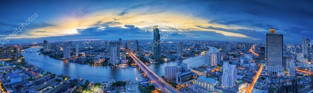 Landscape of River in Bangkok city