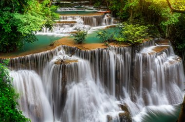 Main level of Huai Mae Kamin Waterfall
