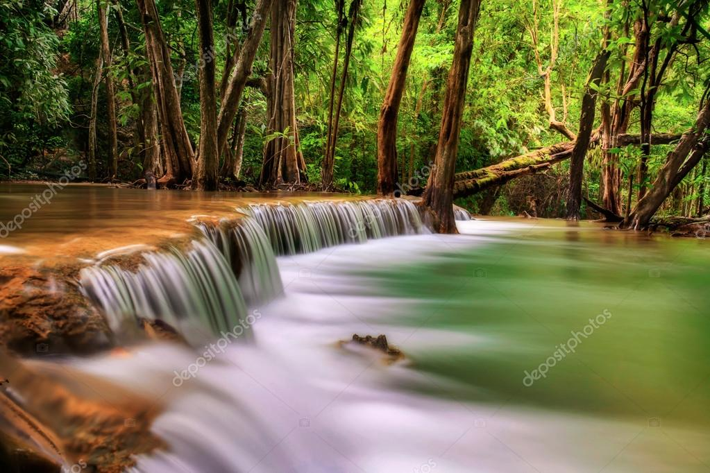 Second level of Erawan Waterfall