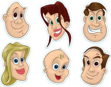 Smiling Faces Fridge Magnet, Stickers