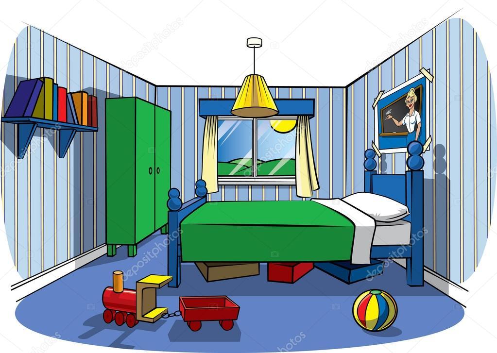 Dormitorio de ni o foto de stock robsnowstock 30115819 for Dormitorio animado