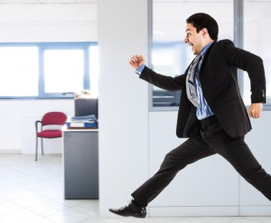 Active businessman