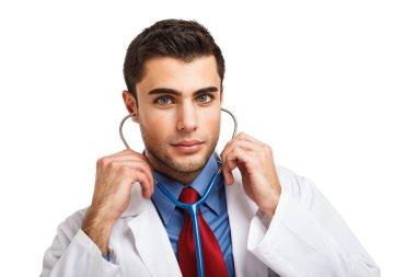 Handsome doctor portrait