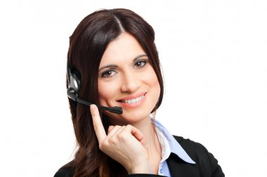 Call center operator portrait