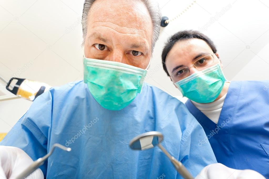 Dentists at work