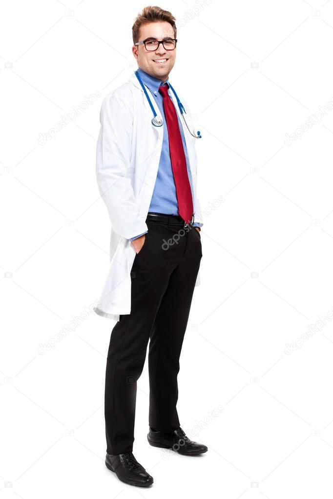 Doctor retrato de cuerpo entero foto de stock for Espejo de pared cuerpo entero