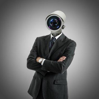 Camera headed man