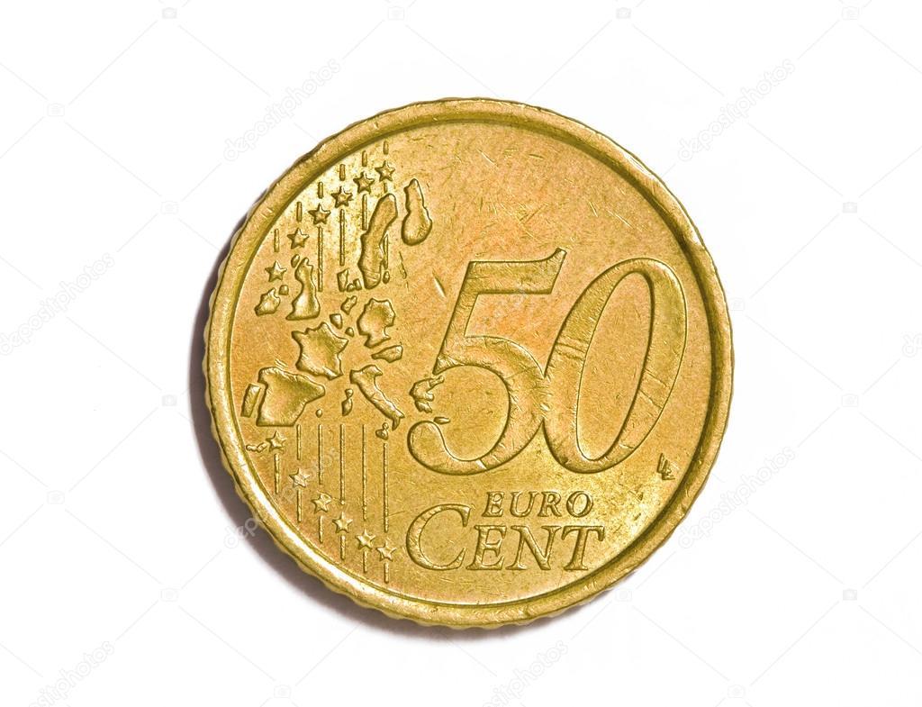 50 Euro Cent Münze Stockfoto Minervastock 32802097