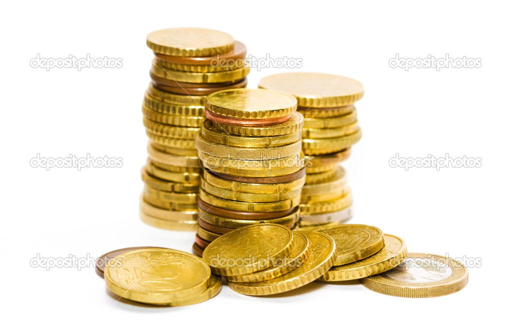 Berge Von Münzen Stockfoto Minervastock 32802885