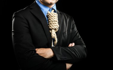 Businessman in a loop knot