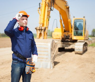 Worker in a construction site