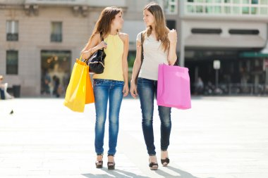 Girls shopping in the city