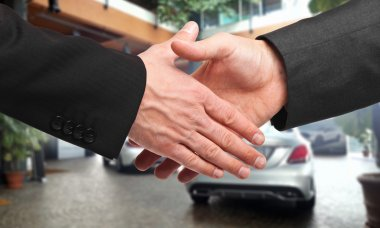 Handshake after buying a car