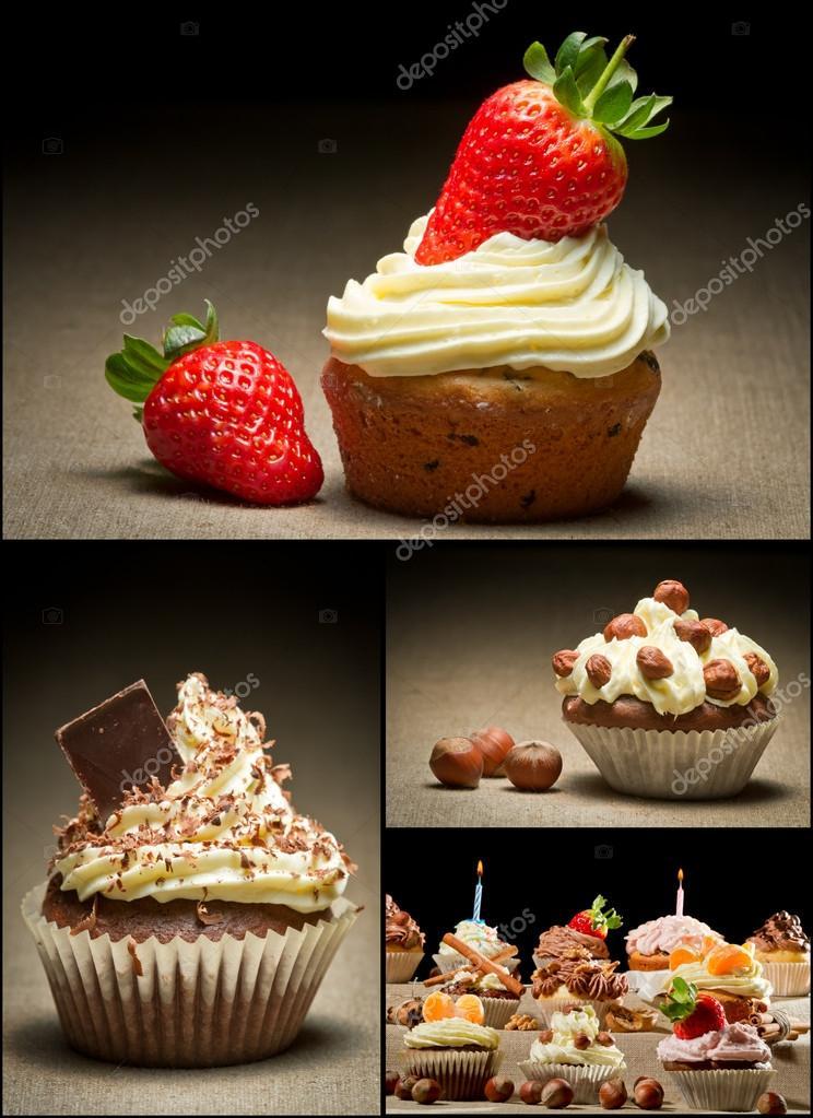 Collage di diversi tipi di muffin n 1 foto stock - Diversi tipi di erba ...