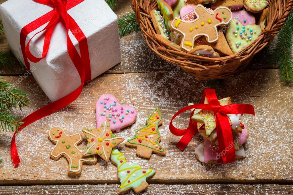 Biscotti Come Regalo Di Natale.Biscotti Di Panpepato Come Un Bel Regalo Di Natale Foto Stock