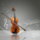 Fényképek Hegedű és hegedű kibír-val kották