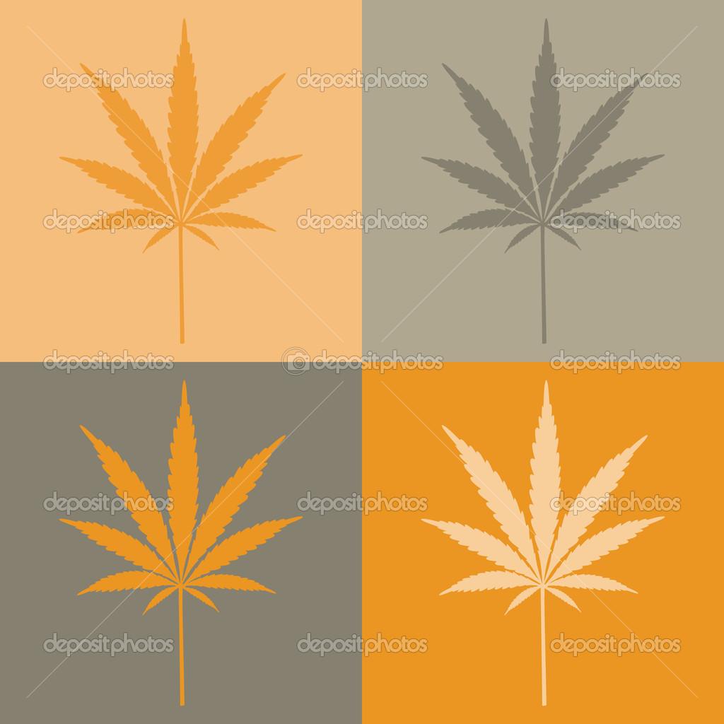 Four cannabis leafs