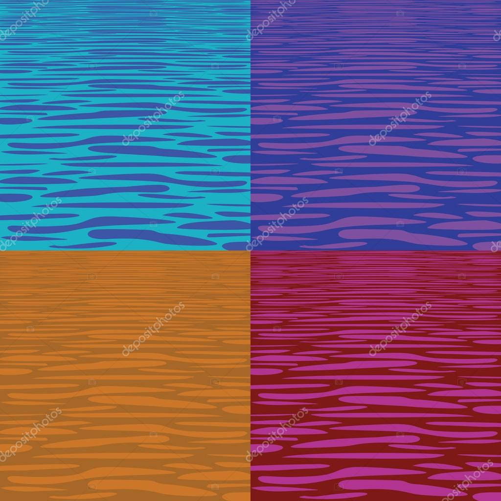 Four tranquil water pattern