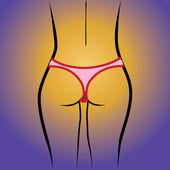 Fotografia donna inthong posteriore