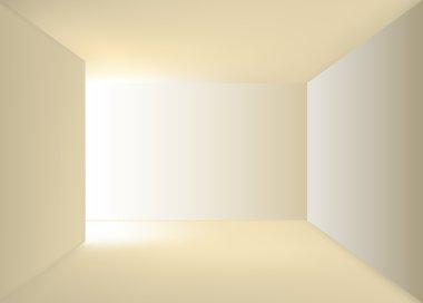 "Картина, постер, плакат, фотообои ""Empty end of corridor"", артикул 18499467"