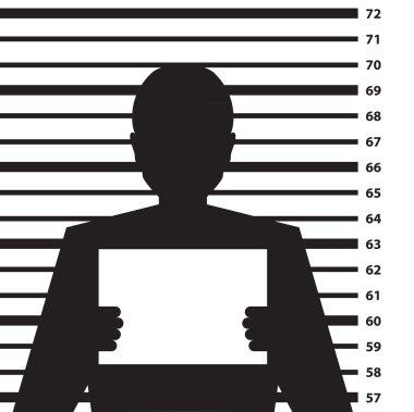 Criminal record silhouette