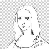 Fotografie Mona Lisa Sketch