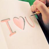 Miluji tě na notebook