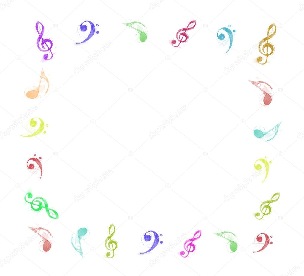 Music notes frame — Stock Photo © nuchylee #38256305