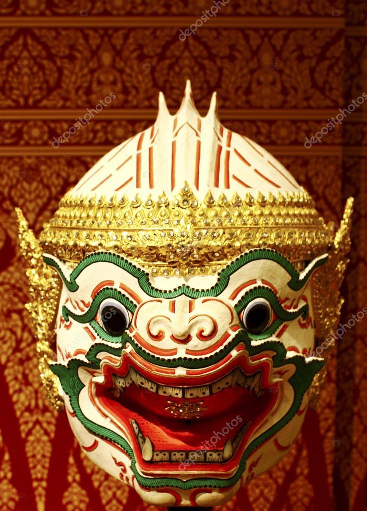 à vendre prix de la rue gamme de couleurs exceptionnelle Masque thaïlandais — Photographie nuchylee © #39165515